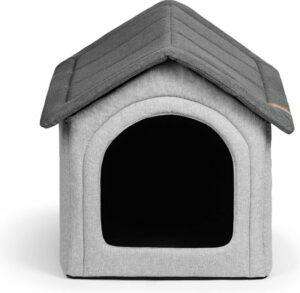 Hondenhuis, hondenhut, dierenhuisje, hondenhok, hondenhuisje- Shack grijs