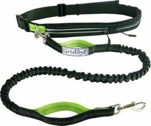 Gridbyt Hondenlijn - Hondenriem - Zwart-Groen - 70-120 cm