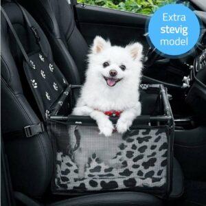 Verstevigde Autostoel voor hond - Hondenmand voor in de auto - Veilig op reis
